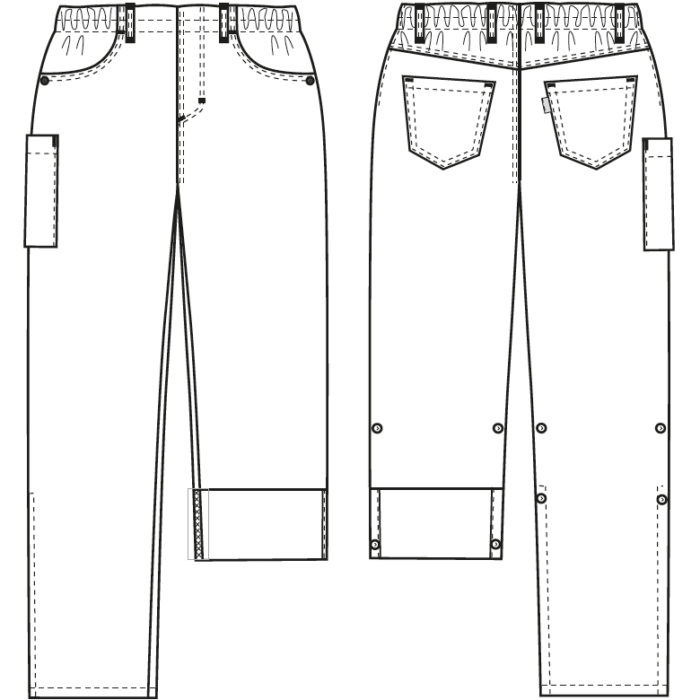 190 g/m² Artikelnummer: K-105116200-N63% Polyester - 34% Baumwolle - 3% EOL Stretch190 g/m²✓ Pull-on-Style mit 5-Pocket-Details✓ 4 cm breites Gummiband✓ Taille mit Flat-Front-Look✓ Mittlere/hohe Taillenhöhe✓ Gerade Linien an Hüfte und Oberschenkel✓ Tiefe Vordertaschen✓ Zwei Jeans-Gesäßtaschen✓ Oberschenkeltasche mit Druckknopfverschluss✓ Verstellbare Schrittlänge mit Druckknopffixierung✓ Strapazierfähig