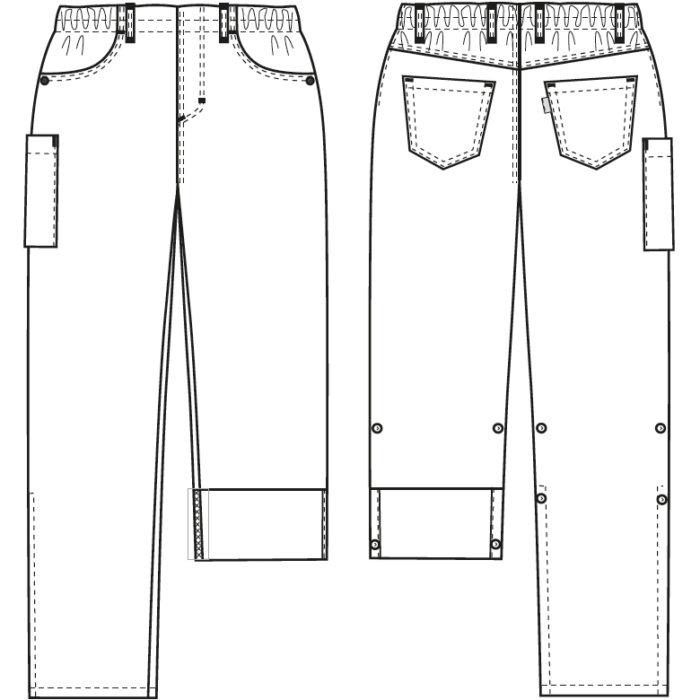 245 g/m² Artikelnummer: K-105119200-N64% Polyester - 34% Baumwolle - 2% EOL Stretch245 g/m²✓ Pull-on-Style mit 5-Pocket-Details✓ 4 cm breites Gummiband✓ Taille mit Flat-Front-Look✓ Mittlere/hohe Taillenhöhe✓ Gerade Linien an Hüfte und Oberschenkel✓ Tiefe Vordertaschen✓ Zwei Jeans-Gesäßtaschen✓ Oberschenkeltasche mit Druckknopfverschluss✓ Verstellbare Schrittlänge mit Druckknopffixierung✓ Strapazierfähig