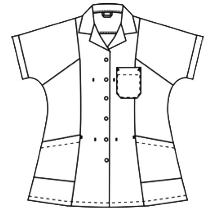 Kimonoärmel Artikelnummer: K-119000100-N65% Polyester - 35% Baumwolle210 g/m²✓ Eine Brusttasche links✓ Zwei große Hüfttaschen✓ Reverskragen✓ Druckknöpfe zum Verschließen✓ Nackenschlaufe