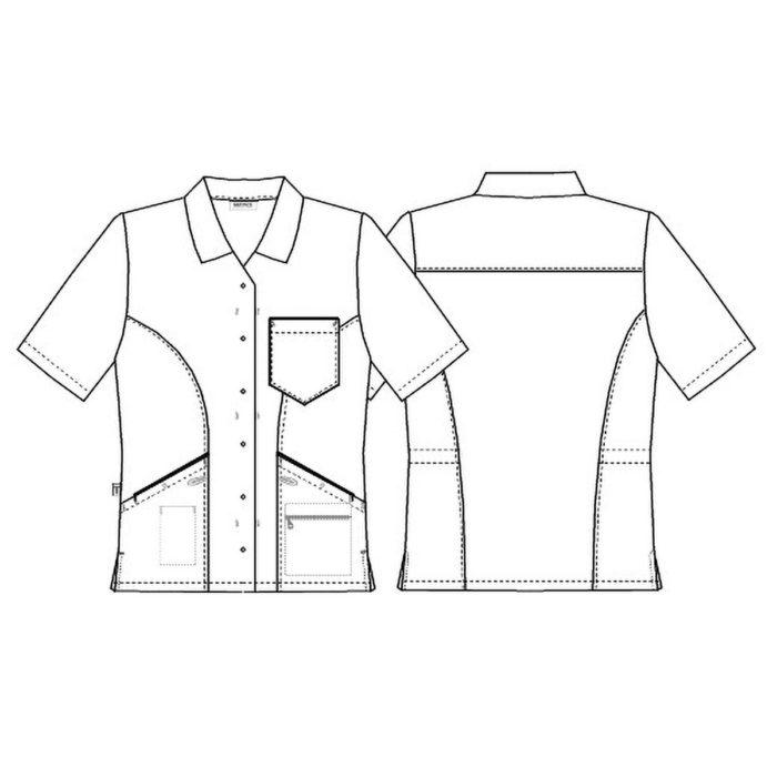 "15147 103 0 0 K b   Damenkasack Artikelnummer: K-15147-103-0-0-K 65% Polyester - 35% Baumwolle 150 g/m² <span style=""color: #009a3f;"">✓ </span>V-Ausschnitt <span style=""color: #009a3f;"">✓ </span>Hemdkragen <span style=""color: #009a3f;"">✓ </span>Eine Brusttasche <span style=""color: #009a3f;"">✓ </span>Zwei Hüfttaschen mit Handytasche <span style=""color: #009a3f;"">✓ </span>Separate Innenhüfttasche mit Reißverschluss <span style=""color: #009a3f;"">✓ </span>Innenverstellbare Taille <span style=""color: #009a3f;"">✓ </span>Schlüsselschlaufen <span style=""color: #009a3f;"">✓ </span>Seitenschlitze"