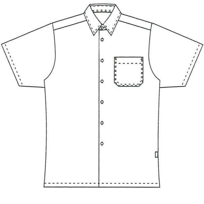 KurzarmArtikelnummer: K-216005100-N50% Baumwolle - 50% Polyester120 g/m²✓ Klassisches Herrenhemd✓ 1/4-Arm✓ Brusttasche links