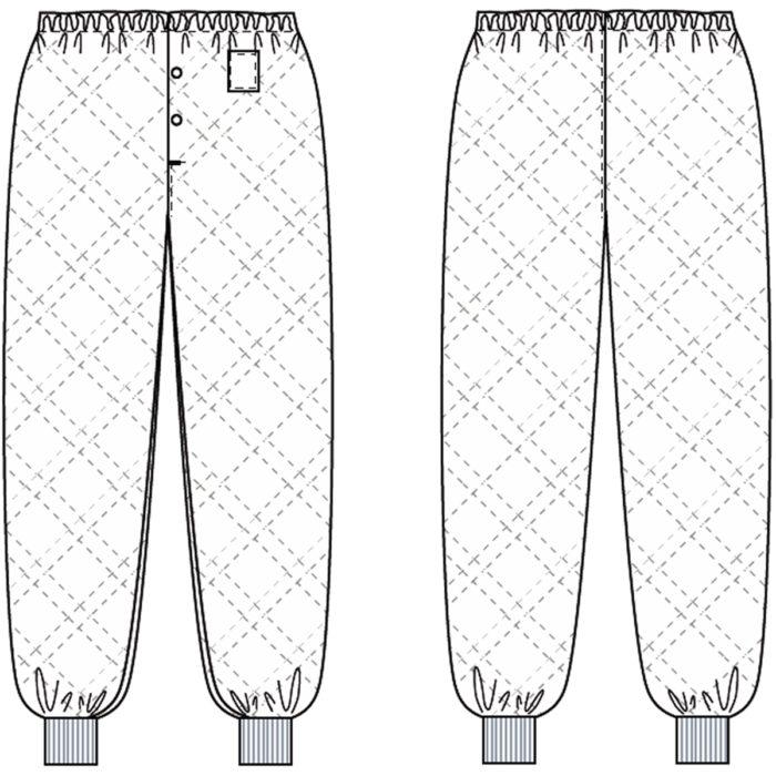 Gummizug im BundArtikelnummer: K-401001100-N65% Polyester - 35% Baumwolle380 g/m²✓ Gummizug im Bund✓ Druckknöpfe im Schlitz✓ 7 cm Rippbündchen am Bein