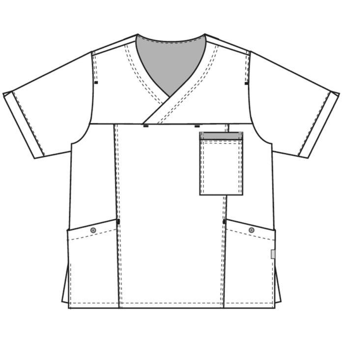 beidseitig Das Schlupfhemd ist elegant und trendy durch die harmonischen Melanchetöne.