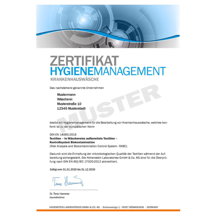hygienezeugnis ral-gz 992/2 rabc muster
