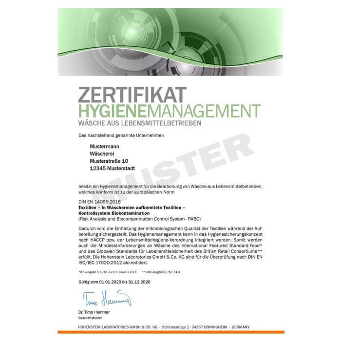 hygienezeugnis ral-gz 992/3 rabc muster